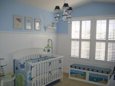 Nautical themed nursery for our first baby boy! I don't think I could ever get past the fact we created it all with our own hands!