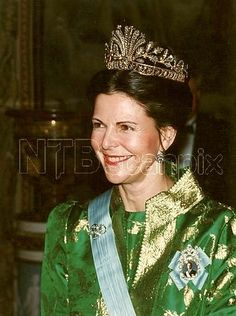 Queen Silvia wearing the Cut Steel Tiara