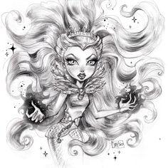 Darko Dordevic — Raven Queen/Ever After High Monster High Art, Monster High Dolls, Ever After High Rebels, Lizzie Hearts, Queen Drawing, Kids Cartoon Characters, Personajes Monster High, That Poppy, Raven Queen