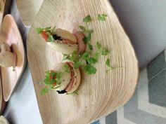 Savory macaron with chicken liver mousse by Kristen Kish