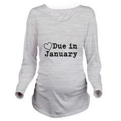 Due In January Long Sleeve Maternity T-Shirt > Due in January > Fun Clothes For Family