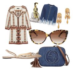 """Cosmopolitan Boho"" by jaijai11 ❤ liked on Polyvore featuring Isabel Marant, Gucci, Jimmy Choo, Chloé, Ben-Amun and 3x1"