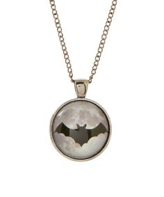 Look at this Frankie & Stein Black Bat Moon Pendant Necklace on #zulily today!