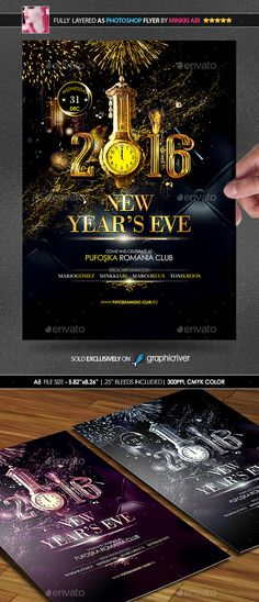 New Year Party Flyer Party flyer, Flyer template and Club parties - new year poster template