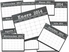 Calendarios 2014 Imprimir Tiza - © Ana Cabreira