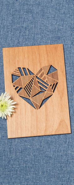 Laser-etched greeting cards that are made to last—and be displayed. Created in California with sustainably harvested Alder wood.