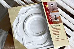 DIY CUSTOM DOOR MOULDING USING A CEILING MEDALLION