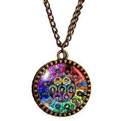 Homestuck Necklace God Mandala Art Glass Pendant cosplay Jewelry New Aries Chain