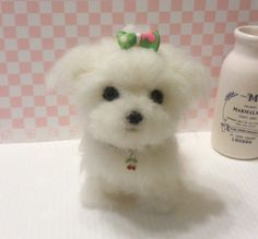 Needle felt Needle felting dog Needle felted dog by FeltTale, $160.00. It. Looks so real!