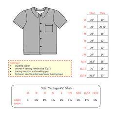 Boy's Skater Shirt - Sewing Pattern - Monaluna