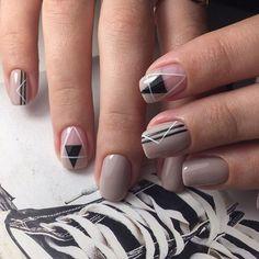 Great Ideas For Holiday Nails – NaiLovely Latest Nail Designs, Creative Nail Designs, Creative Nails, Art Designs, Stylish Nails, Trendy Nails, Nude Nails, Acrylic Nails, Mens Nails