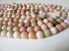 Peruvian opal round beads, Natural Pink Opal beads, Pink Smooth round beads 11mm by Susiesgem on Etsy