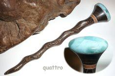 Quattro Hair Sticks 'Naturals' Shillelagh - Larimar by quattro on Etsy