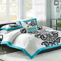 black white and teal-perfect!!