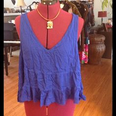 Intimately Free People distressed top Great for lounge wear. Made of rayon. Tops