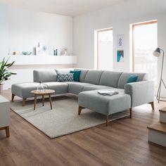 Wohnlandschaft Bora II - Webstoff - Fashion For Home