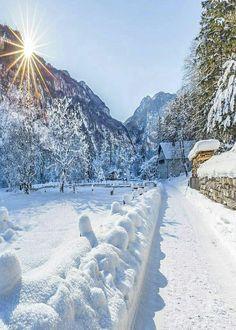 The Morning Path Winter Sunset, Winter Love, Winter Scenery, Landscape Photography, Nature Photography, Travel Photography, Winter Holidays, Winter Christmas, Austria Winter