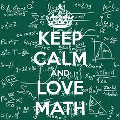 'KEEP CALM AND LOVE MATH' Poster