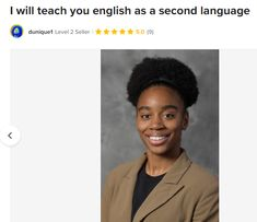 Fiverr freelancer will provide Online Language Lessons services and teach you english as a second language including Lesson Length (in minutes) within 2 days Purdue University, Language Lessons, Second Language, Creative Writing, Learn English, 4 Years, Prague, Conversation, Teaching