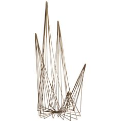 spike brass wire object in table top décor | CB2
