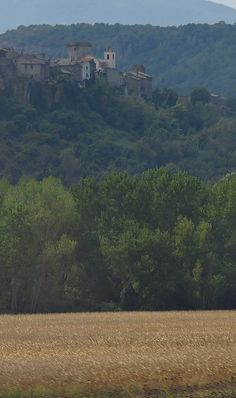 Rome to Florence on a High Speed Train - the beautiful landscape of Tuscany through the train window.