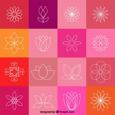 Kwiat lotosu ikon Darmowych Wektorów