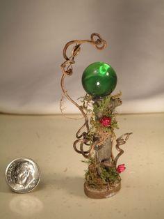 Fairy Woodland Gazing Ball Green 1 scale. by Karro