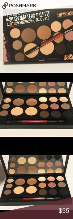 SMASHBOX #SHAPEMATTERS PALETTE -Brows, Face & Eyes What it is: A three-palettes-in-one kit with 16 bestselling shades and a double-ended brush to contour the brows, face, and eyes.   What it does: Developed with Sephora's Pro Artistry Team, this exclusive #SHAPEMATTERS palette is a chic, portable go-to for sculpting your cheekbones, perfecting your nose, creating an arched brow, and enhancing your eyes with each stroke of alluring color and-richly pigmented liner. It features a #SHAPEMATTERS…