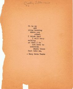 Typewriter poem #20 | Mary Kate Teske