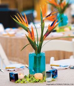 paradise wedding thems | Tropical Flowers For Beach Wedding | Wedding Dress | Bridal hairstyles