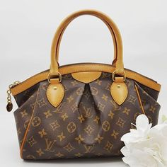 03312dd6cbd5 Preloved Louis Vuitton Tivoli PM Bag Brown Monogram Coated Canvas Gold  Hardware.