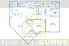 Beds - 2 Baths - 1  Sq. Ft. - 1035  Starting Price - $1410
