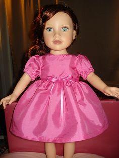 Handmade Valentine's Day American Girl Doll pink taffeta full dress - ag65. $22.95, via Etsy.