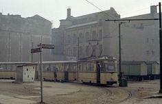 Berlin (Ost) BVB SL 70 Mitte, Georgenstraße / Planckstraße am 17. Februar 1974. - Scan von einem Negativ.