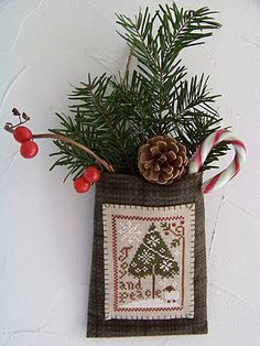 Wool pouch; would be cute as a door decoration