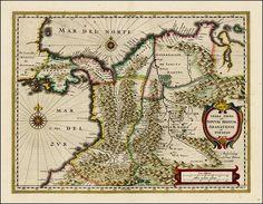 Mapa de Colombia en 1640 elaborado por Hessel Gerritsz cuando #Popayán era grande.