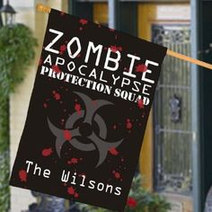 Personalized Zombie Apocalypse House Flag