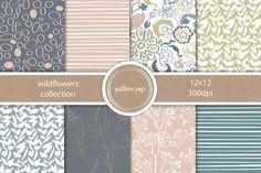 Wildflowers Pattern Pack by pattern pop on Creative Market