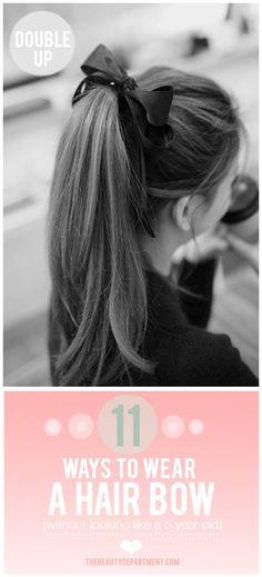 12 ways to wear a bow