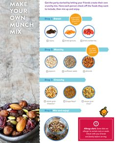 Make your own Munch Mix! Yum! Use this guide to help you make your very own PoweredUp Munch Mix that is super delicious.