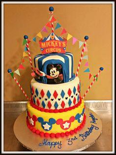 Mickey Circus - Cake by Jessica Chase Avila