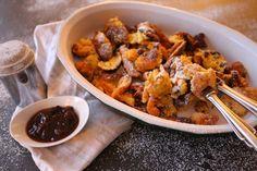 Leckerer Kaiserschmarrn und so einfach gemacht! Chicken, Meat, Desserts, Blog, Kaiserschmarrn, Oven, Food Food, Simple, Recipes