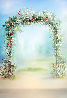 Romantic 3D Flowers Door Photography Backdrop Wedding Birthday Party Photo Background Bridal Shower