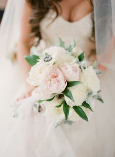 #Peony Bouquet | See the wedding on #SMP:  http://www.stylemepretty.com/2013/12/12/traditional-charleston-wedding  Photography - KT Merry
