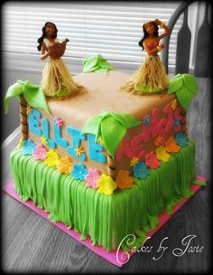 Hawaiian Themed Birthday Cake Cakes Luau