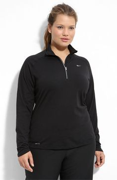 Nike Half Zip Running Top (Plus) available at #Nordstrom