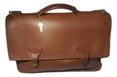 JACK GEORGES Leather Briefcase British Tan Professional | eBay