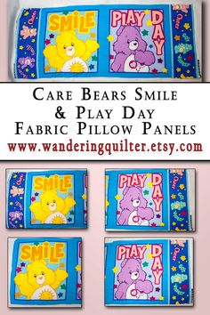 Care Bears Tote along Bag Large Cotton Quilted Panel Fabric