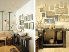 Hum, rustic bathroom for resturant? Minimalist Home Decor, Scandinavian Interior, Restaurant Design, Amazing Bathrooms, Decoration, Home Furniture, Sweet Home, Rustic, Interior Design