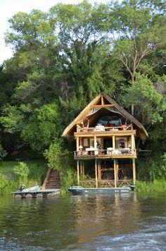 Tongabezi Lodge's Boat House